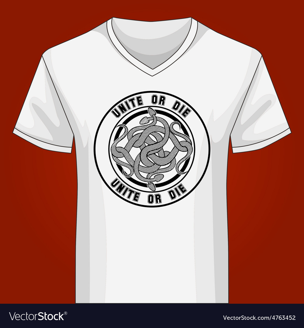 V neck shirt template with snake knot vector | Price: 1 Credit (USD $1)