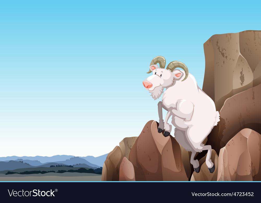 White goat vector | Price: 5 Credit (USD $5)