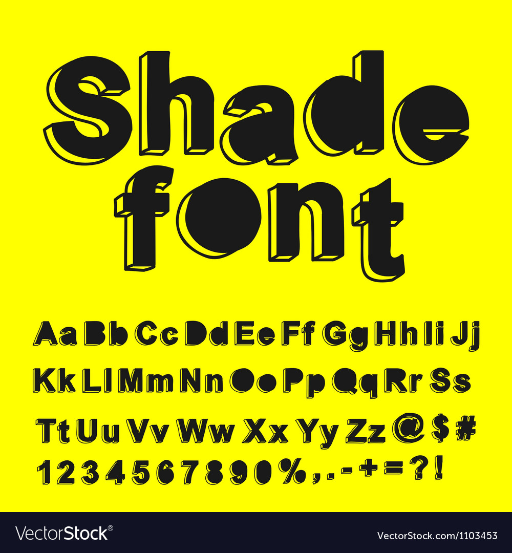 Abstract shade font vector | Price: 1 Credit (USD $1)