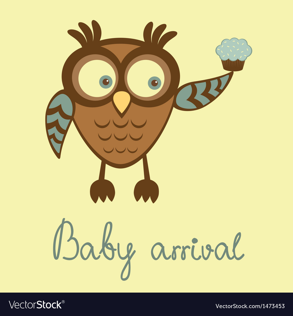 Baby arrival owl vector | Price: 1 Credit (USD $1)