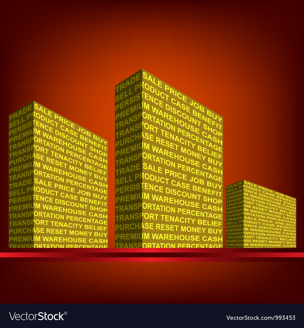 The building made up of words trade vector | Price: 1 Credit (USD $1)