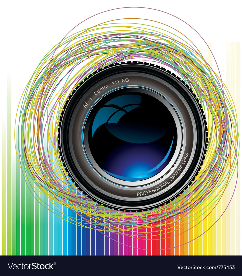Camera lens colorful background vector | Price: 1 Credit (USD $1)