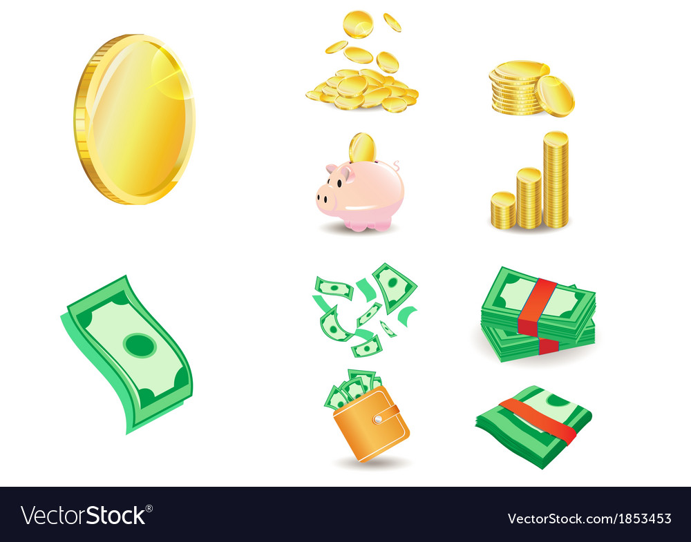 Coin and money vector | Price: 1 Credit (USD $1)