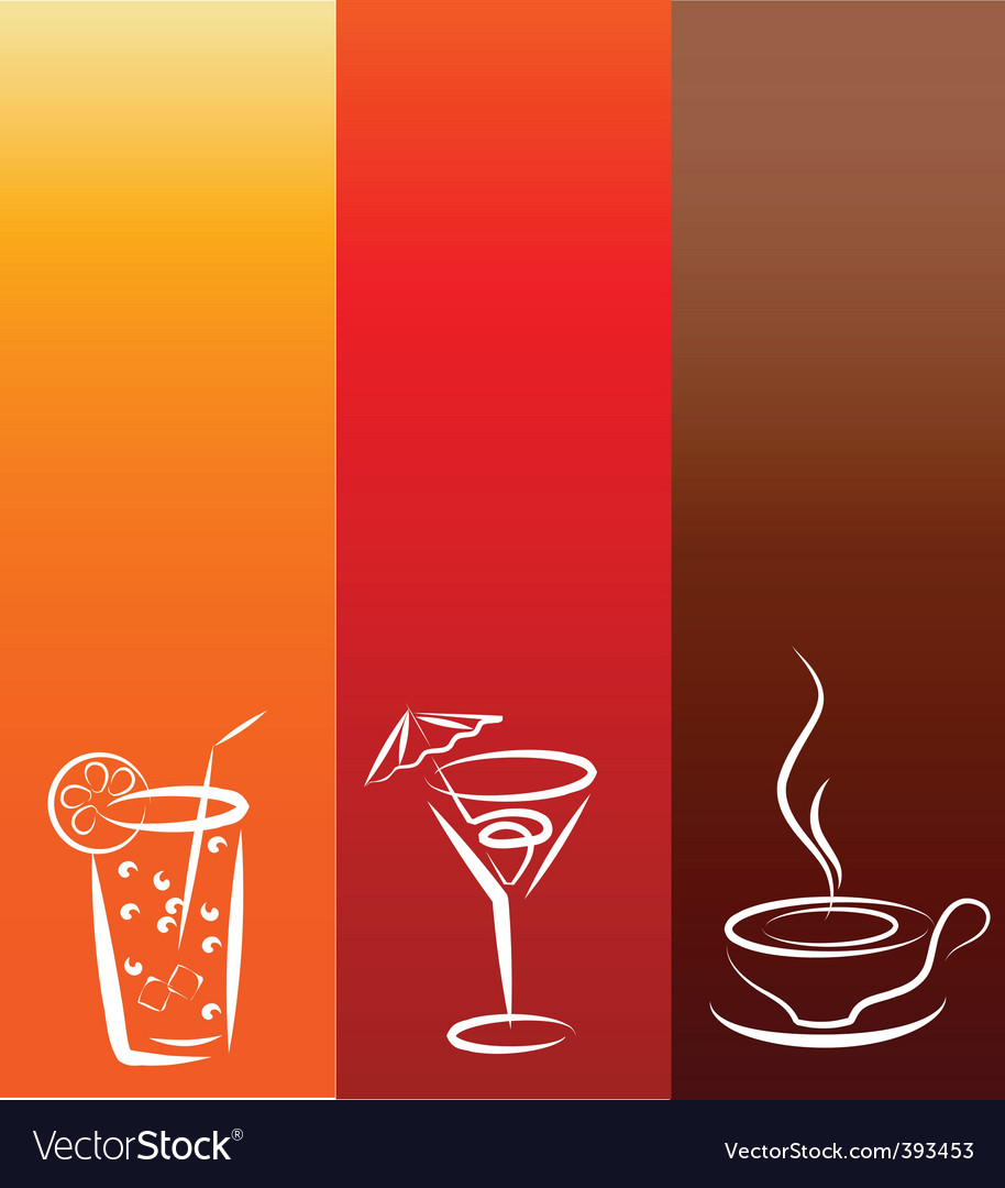 Drinks background vector | Price: 1 Credit (USD $1)