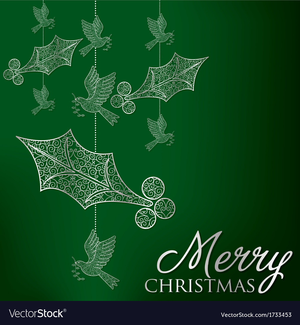 Formal christmas filigree card in format vector | Price: 1 Credit (USD $1)
