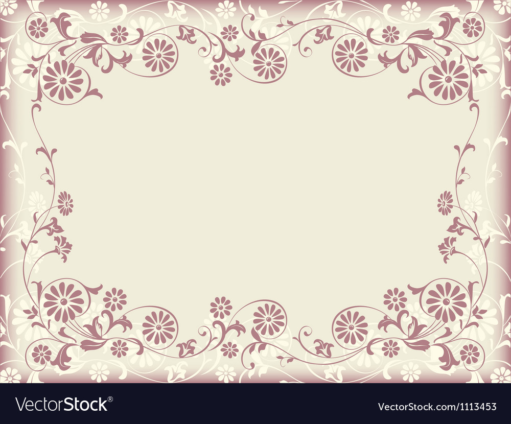 Frame floral decorative ornament vector | Price: 1 Credit (USD $1)