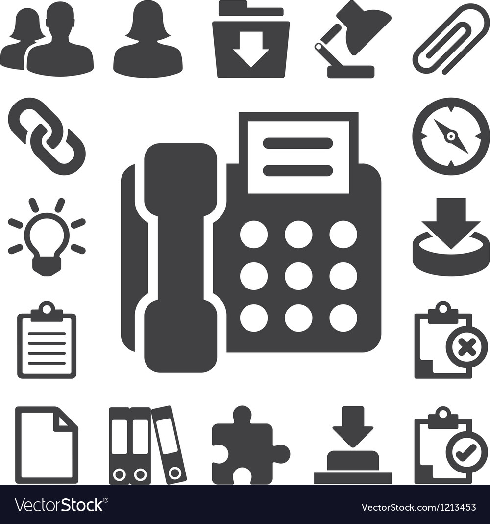 Office icons set eps 10 vector | Price: 1 Credit (USD $1)