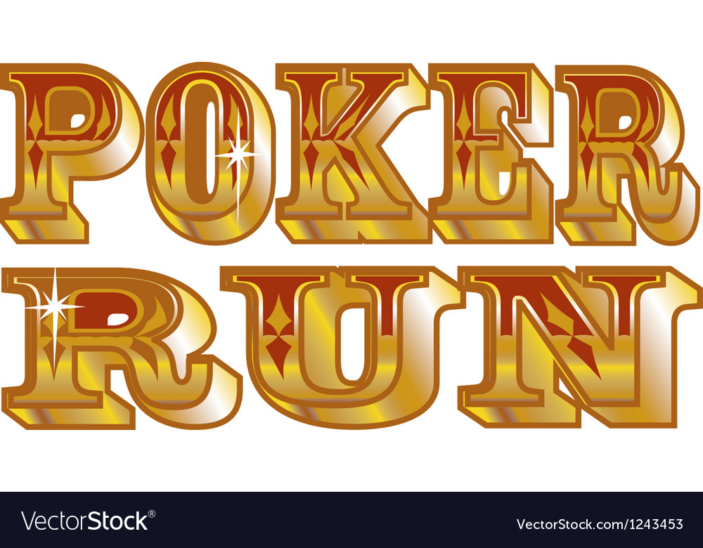 Poker run vector | Price: 1 Credit (USD $1)