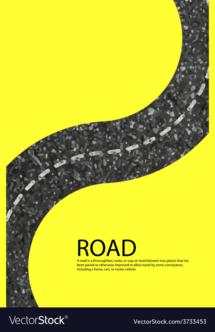 Road blank badges and labels on background yellow vector | Price: 1 Credit (USD $1)