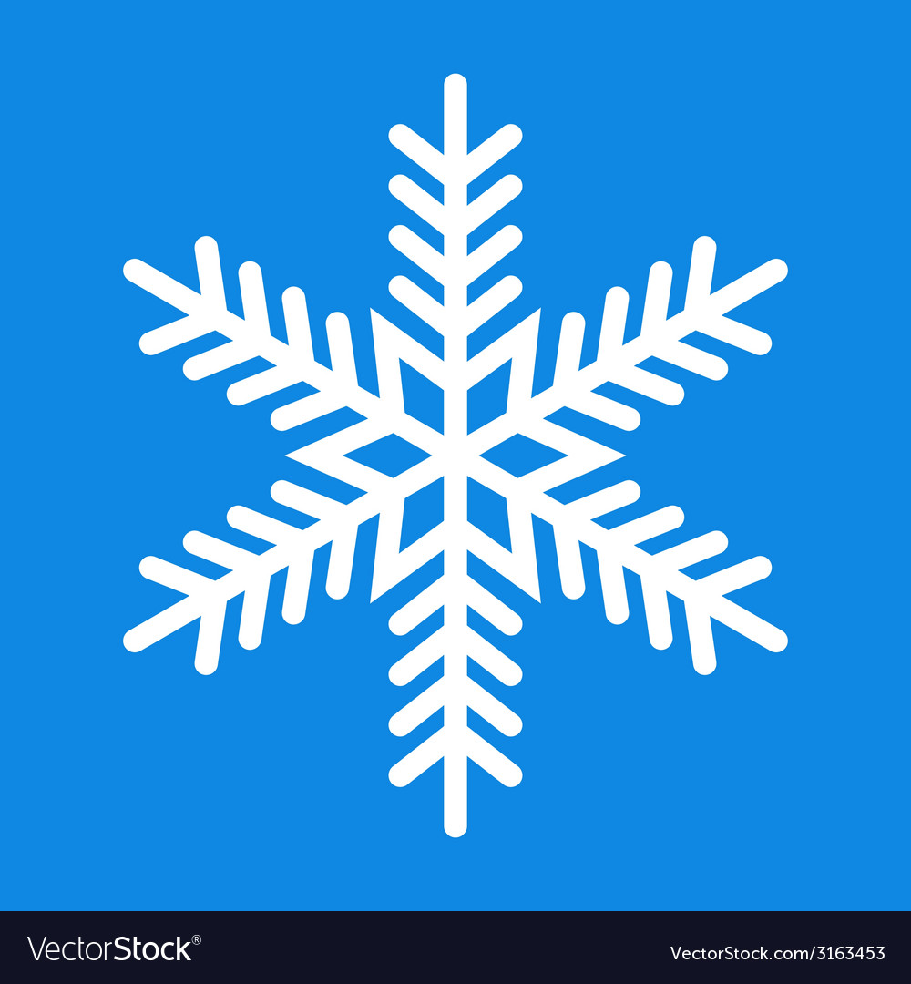 Snowflake icon vector