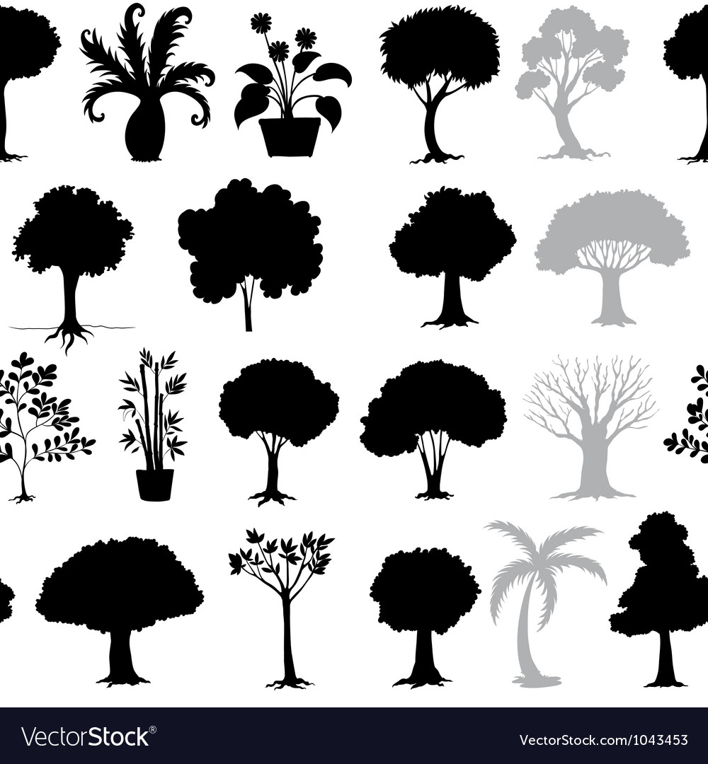 Various trees vector | Price: 1 Credit (USD $1)