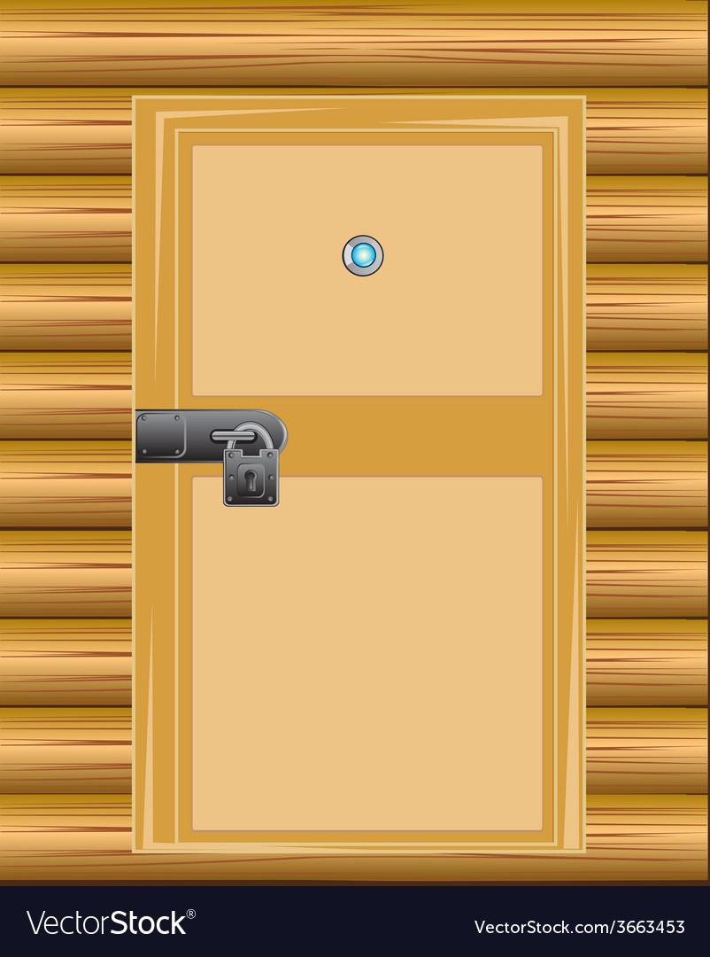 Wall with door on lock vector | Price: 1 Credit (USD $1)