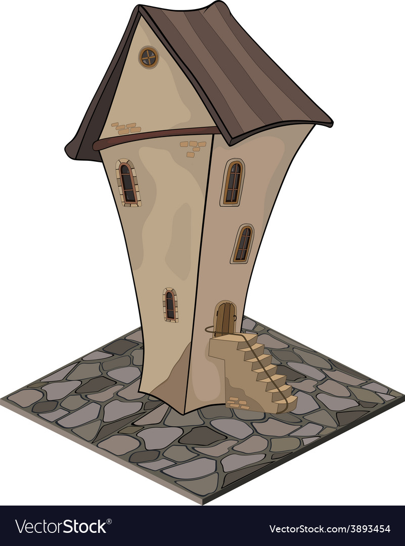 A video game object an old house vector | Price: 1 Credit (USD $1)