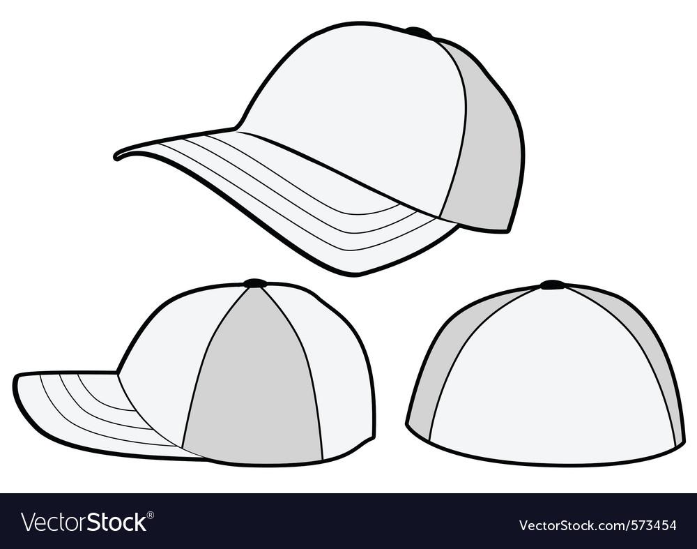 Baseball hat or cap template vector | Price: 1 Credit (USD $1)