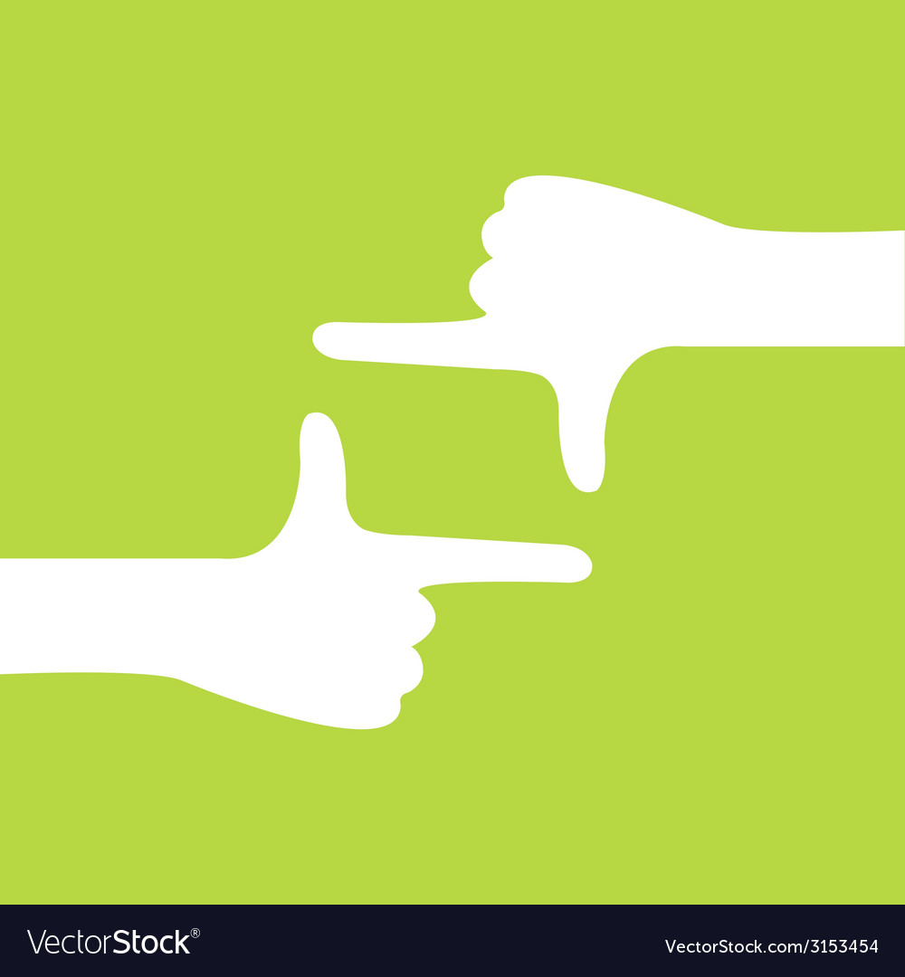 Hand camera gesture vector | Price: 1 Credit (USD $1)