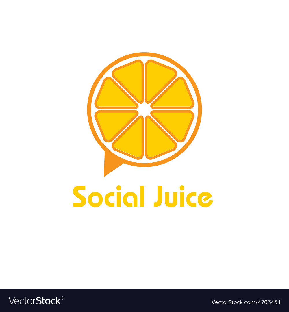 Social juice concept design template vector | Price: 1 Credit (USD $1)