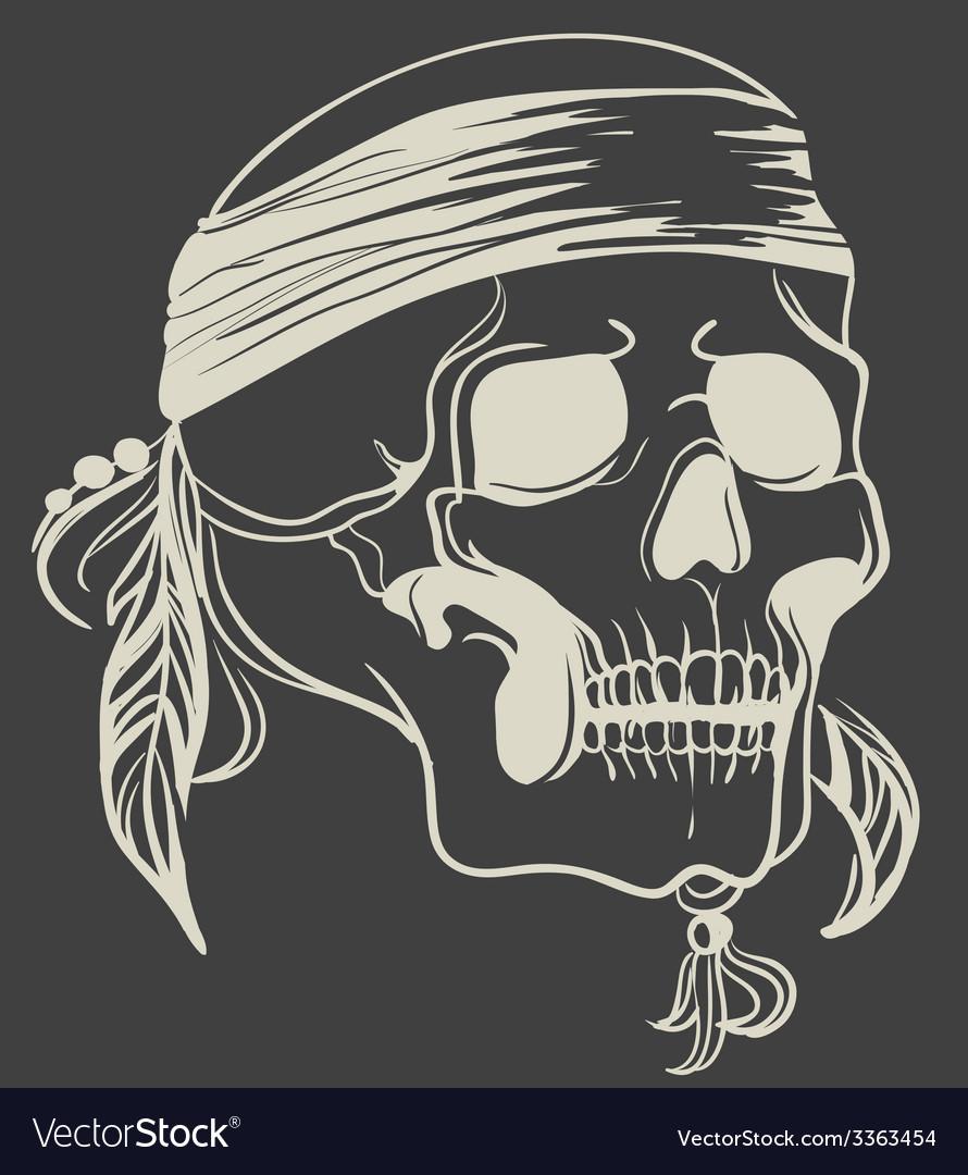 Vintage skull vector | Price: 1 Credit (USD $1)