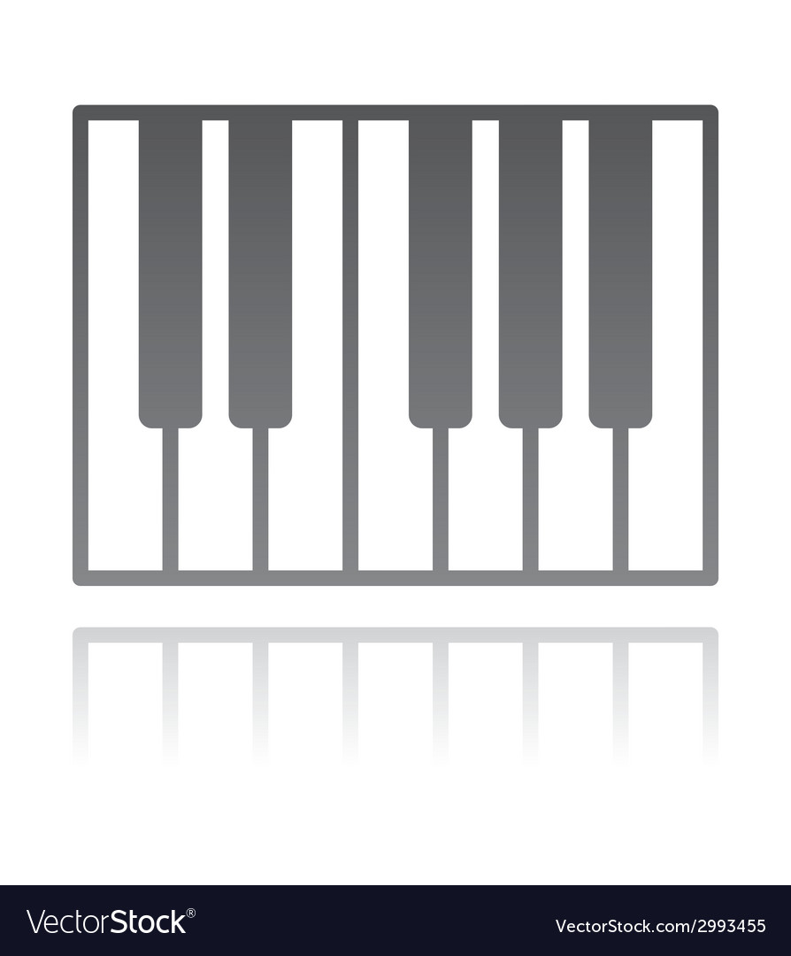 A piano keyboard music concept vector | Price: 1 Credit (USD $1)