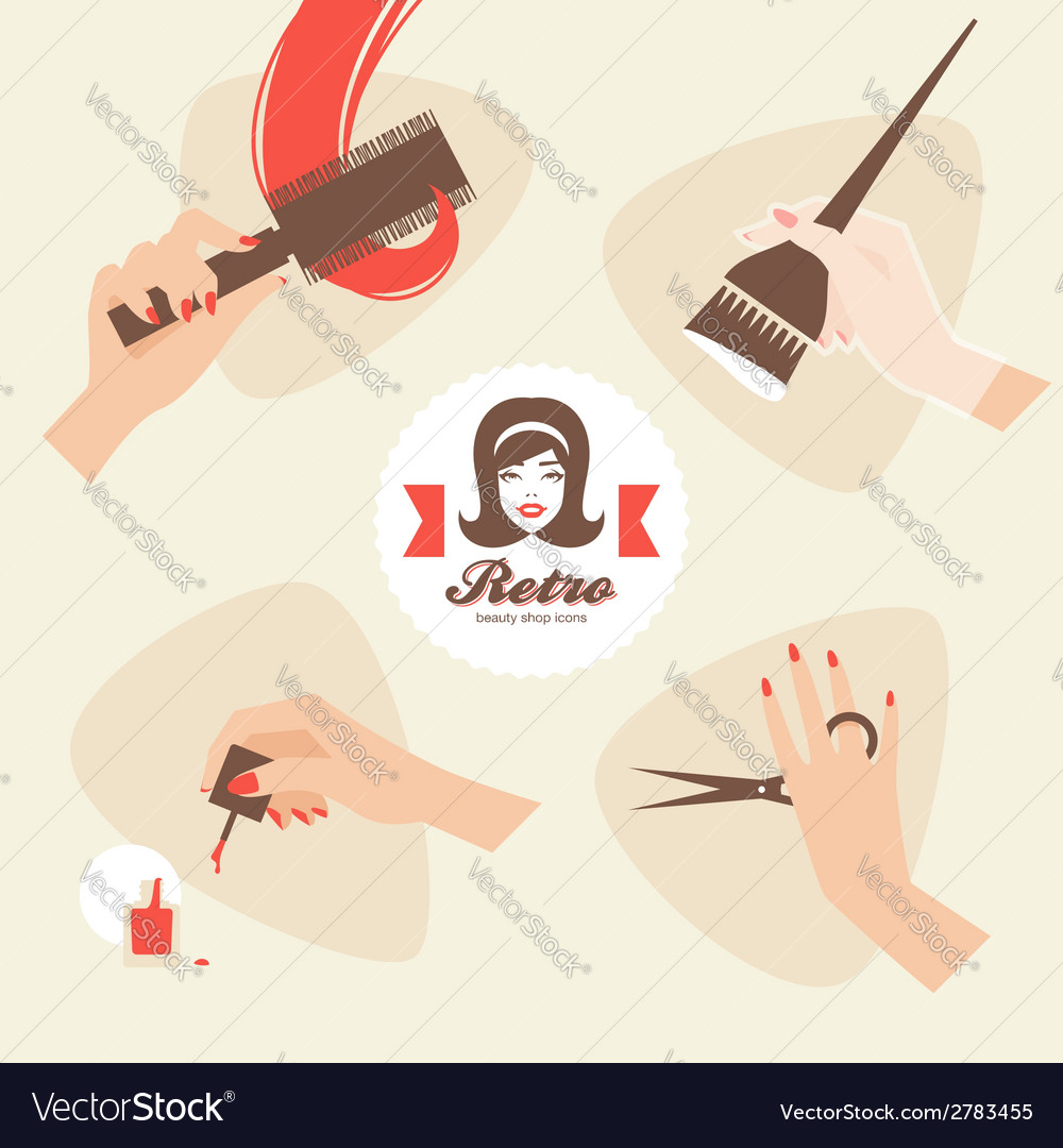 Beauty shop icons vector | Price: 1 Credit (USD $1)