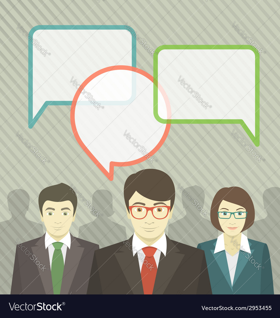 Business team with speech bubbles vector | Price: 1 Credit (USD $1)