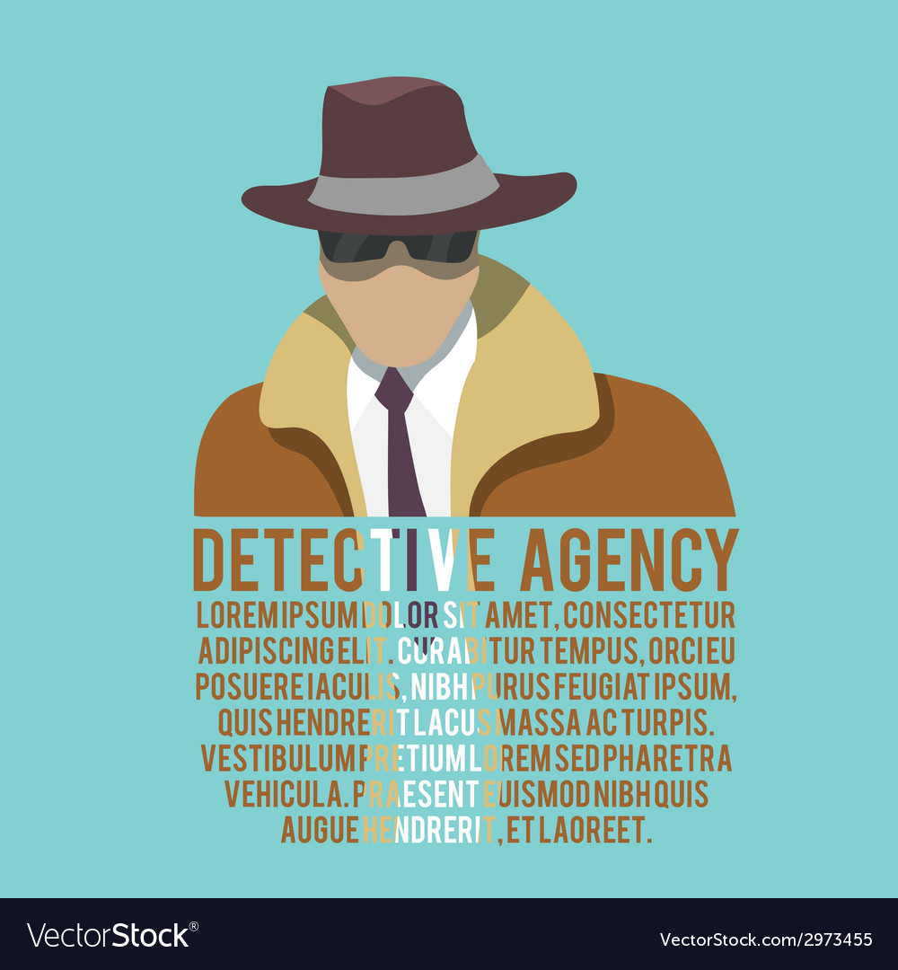 Detective silhouette poster vector | Price: 1 Credit (USD $1)