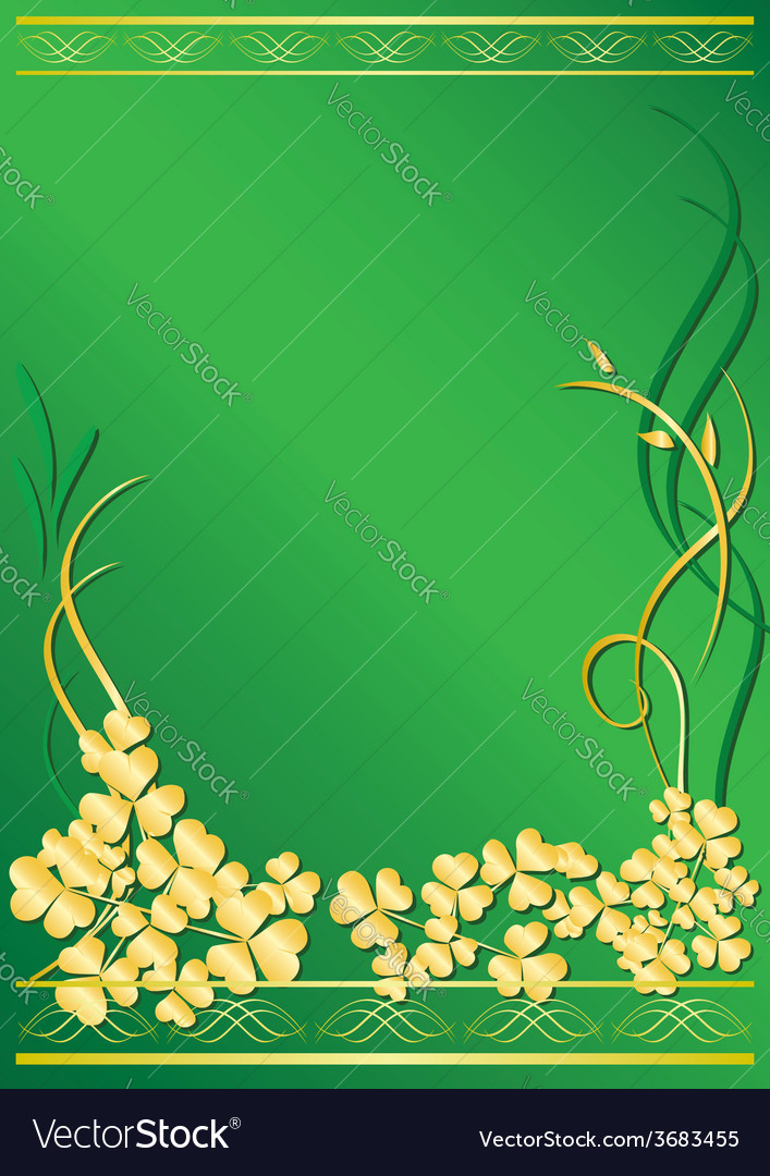 Elegant green frame with flora vector | Price: 1 Credit (USD $1)