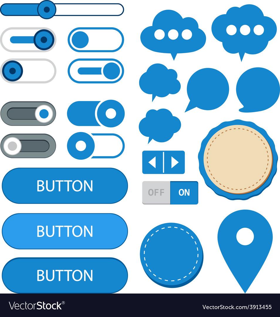 Flat web design elements vector | Price: 1 Credit (USD $1)