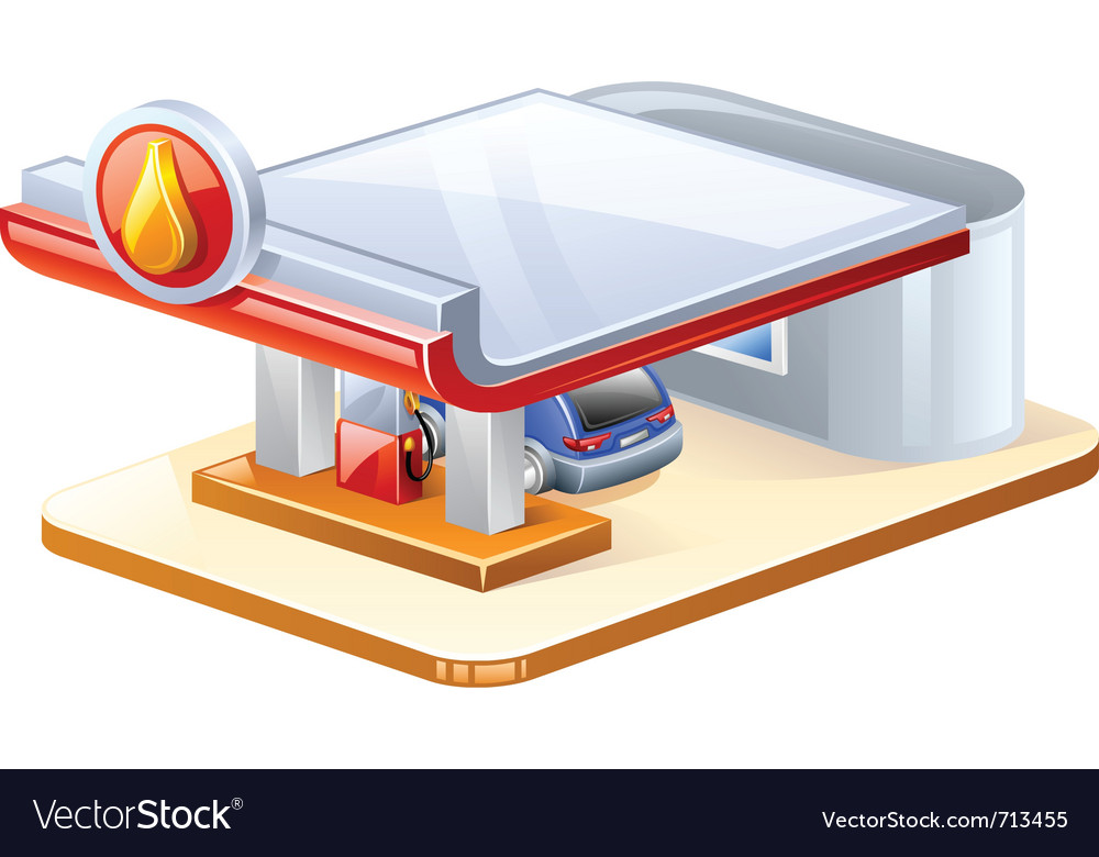 Gasoline station vector | Price: 3 Credit (USD $3)