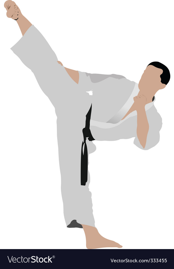 Karate sportsman vector | Price: 1 Credit (USD $1)