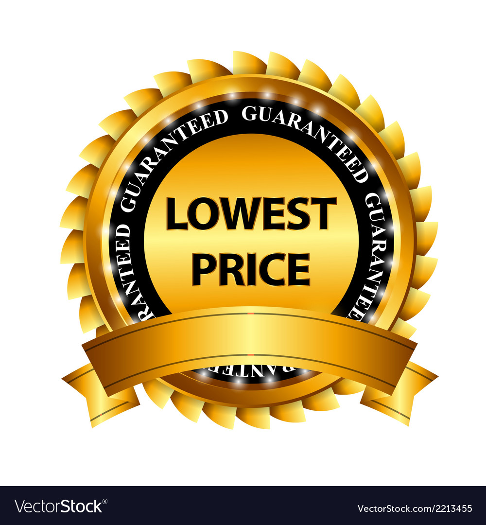 Lowest price guarantee gold label sign template vector | Price: 1 Credit (USD $1)