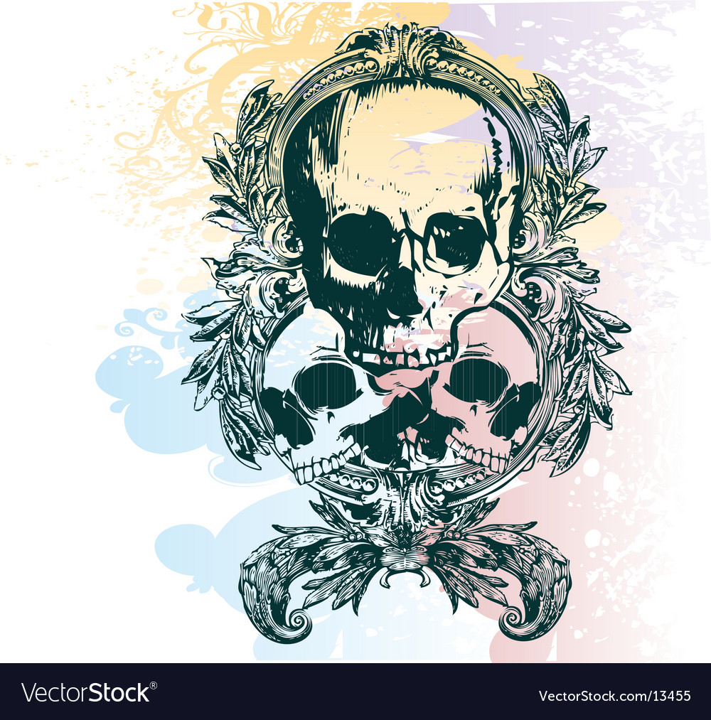 Money skull illustration vector | Price: 3 Credit (USD $3)