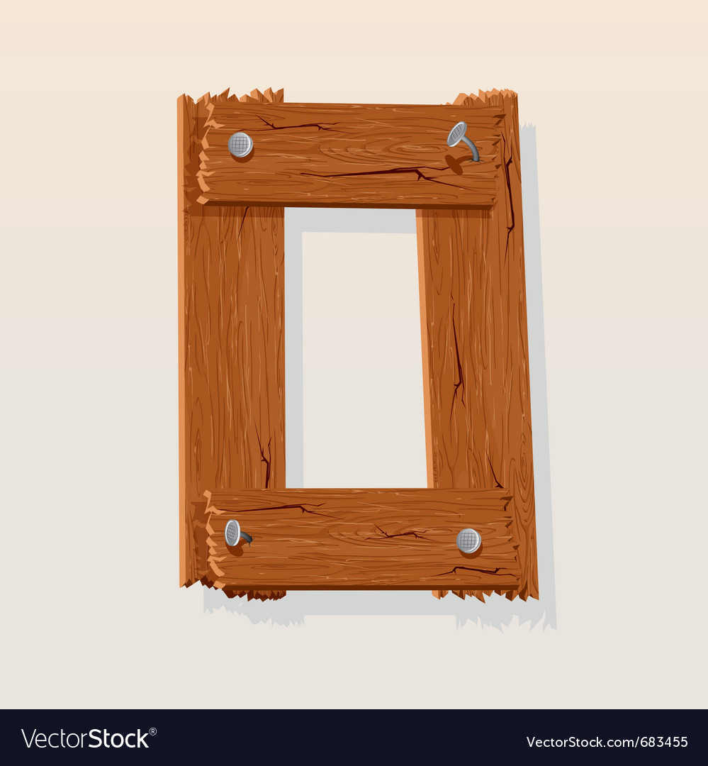 Wooden letter o vector | Price: 1 Credit (USD $1)