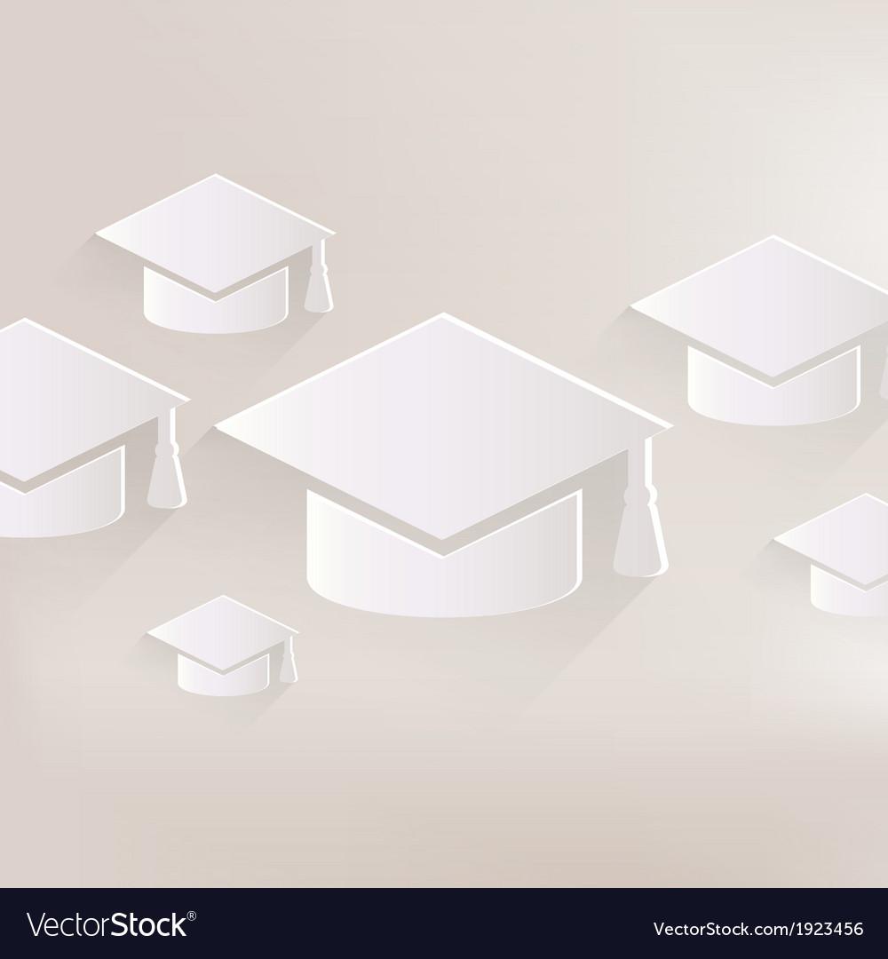 Academic cap icon study hat symbol vector | Price: 1 Credit (USD $1)