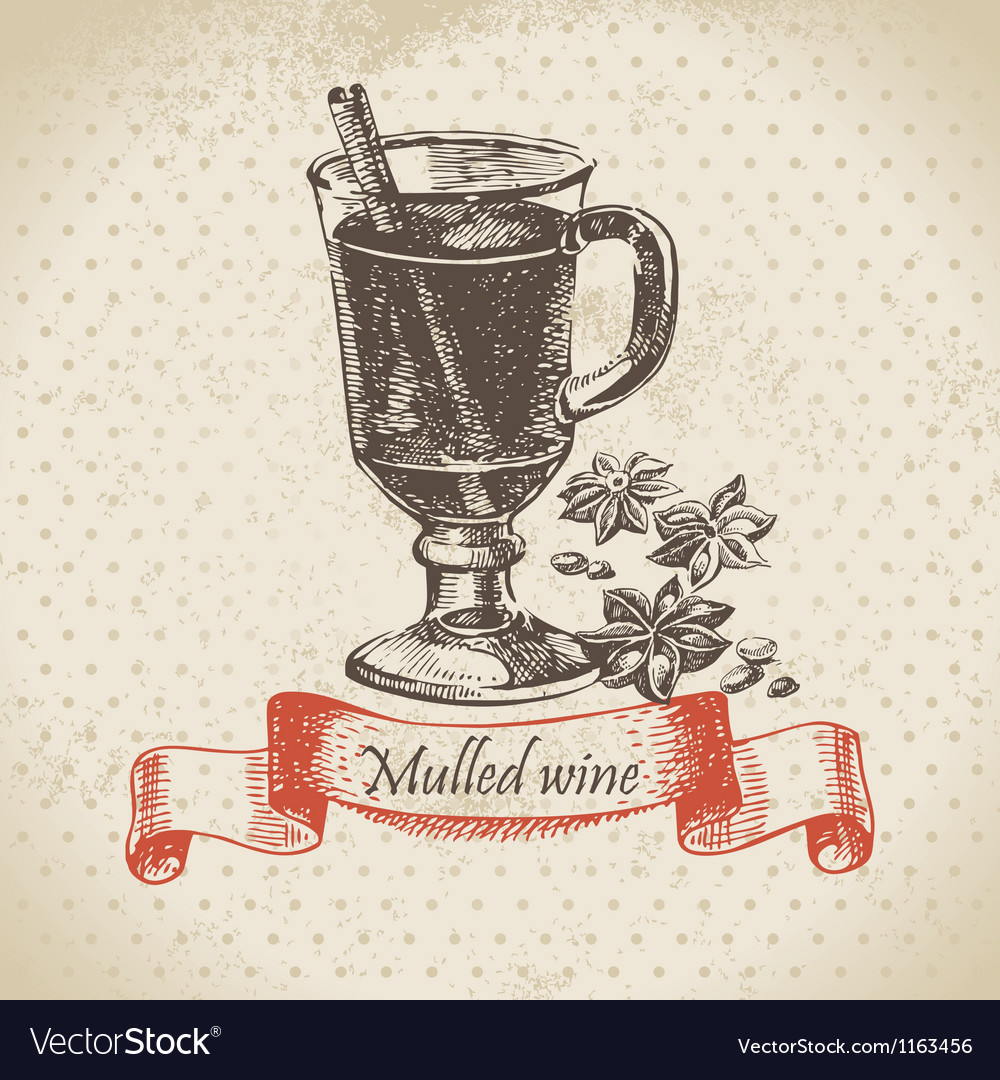 Mulled wine hand drawn vector | Price: 1 Credit (USD $1)