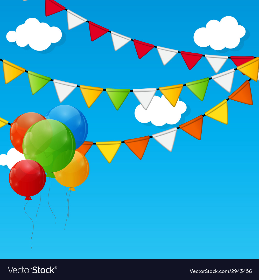 Party flag background  eps 10 vector | Price: 1 Credit (USD $1)
