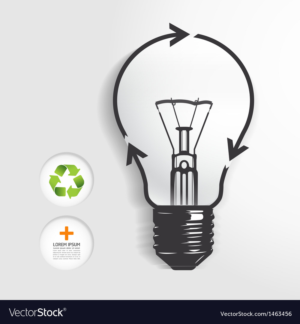 Recycle light bulb concept vector | Price: 1 Credit (USD $1)