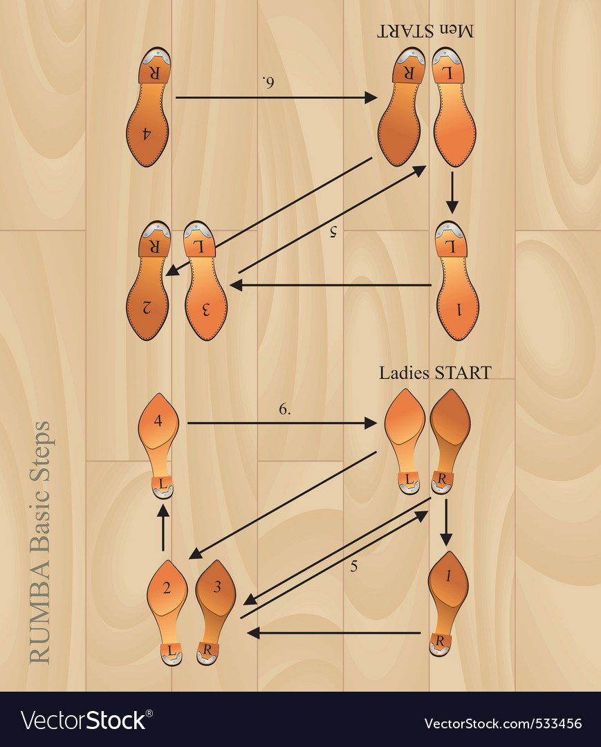 Rumba basic steps vector | Price: 1 Credit (USD $1)