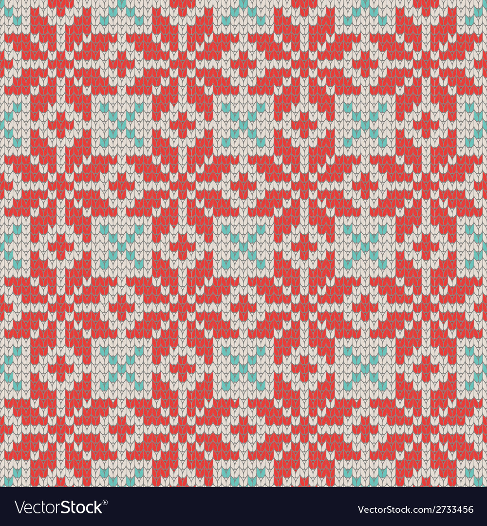 Seamless ornamental knitting pattern vector | Price: 1 Credit (USD $1)