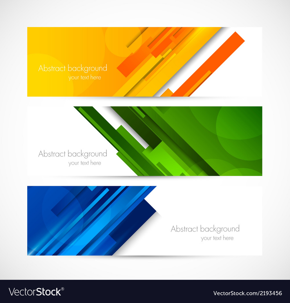 Set of lined banners vector | Price: 1 Credit (USD $1)