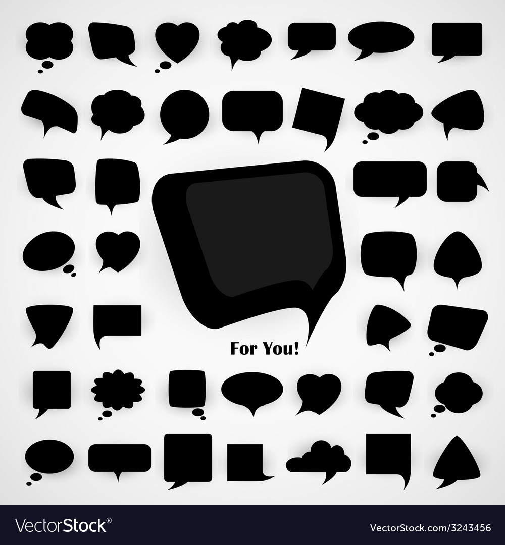 Speech bubbles vector | Price: 1 Credit (USD $1)