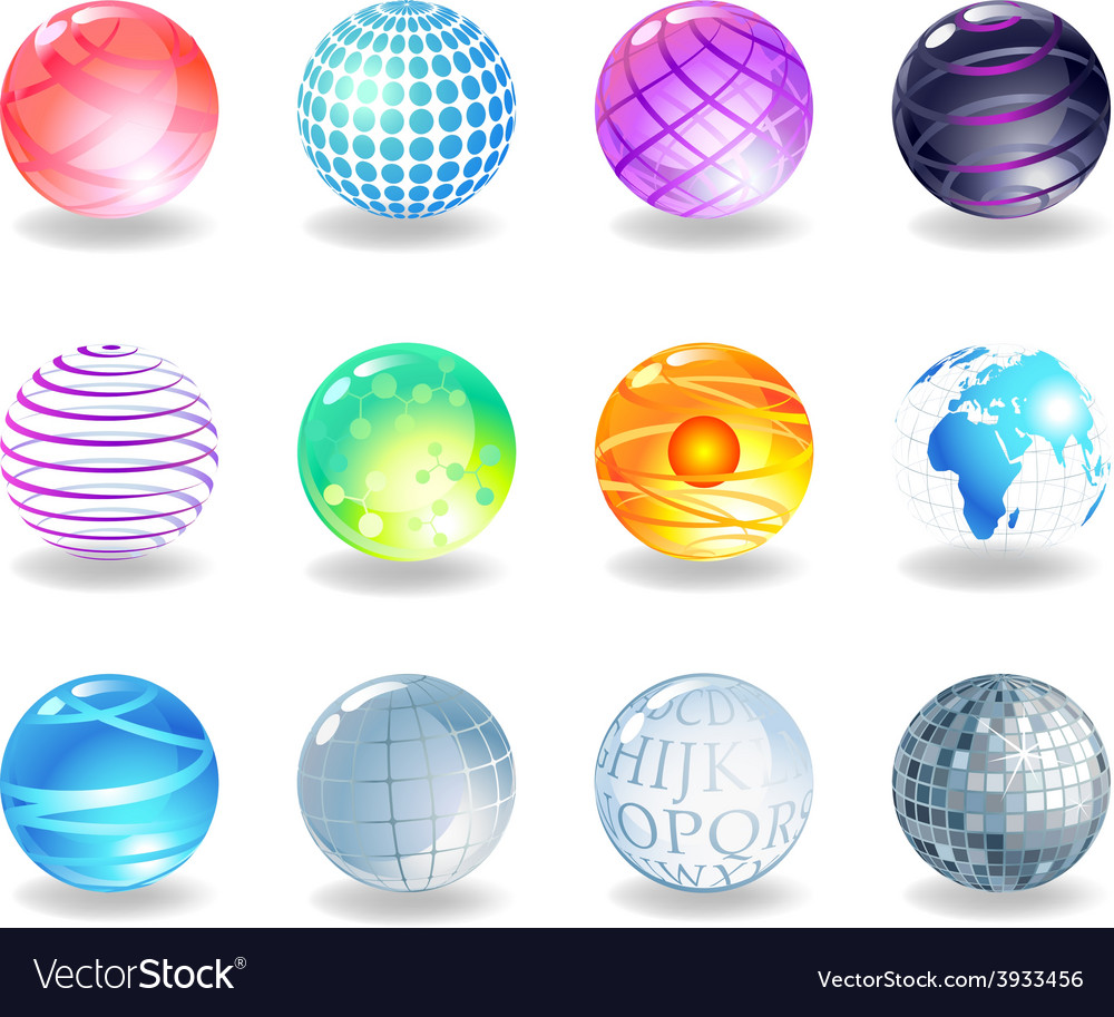 Spheres icons vector | Price: 1 Credit (USD $1)