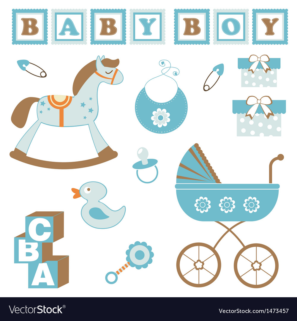 Baby boy toys vector | Price: 1 Credit (USD $1)