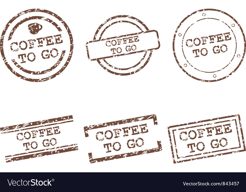 Coffee to go stamps vector | Price: 1 Credit (USD $1)