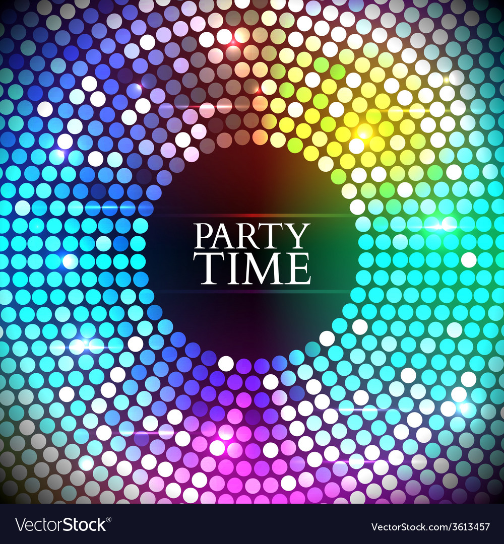 Colorful disco lights vector | Price: 1 Credit (USD $1)