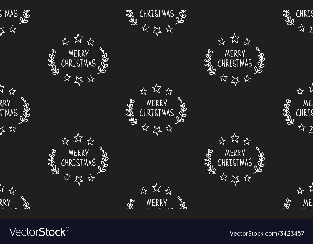 Hand drawn christmas seamless pattern vector | Price: 1 Credit (USD $1)