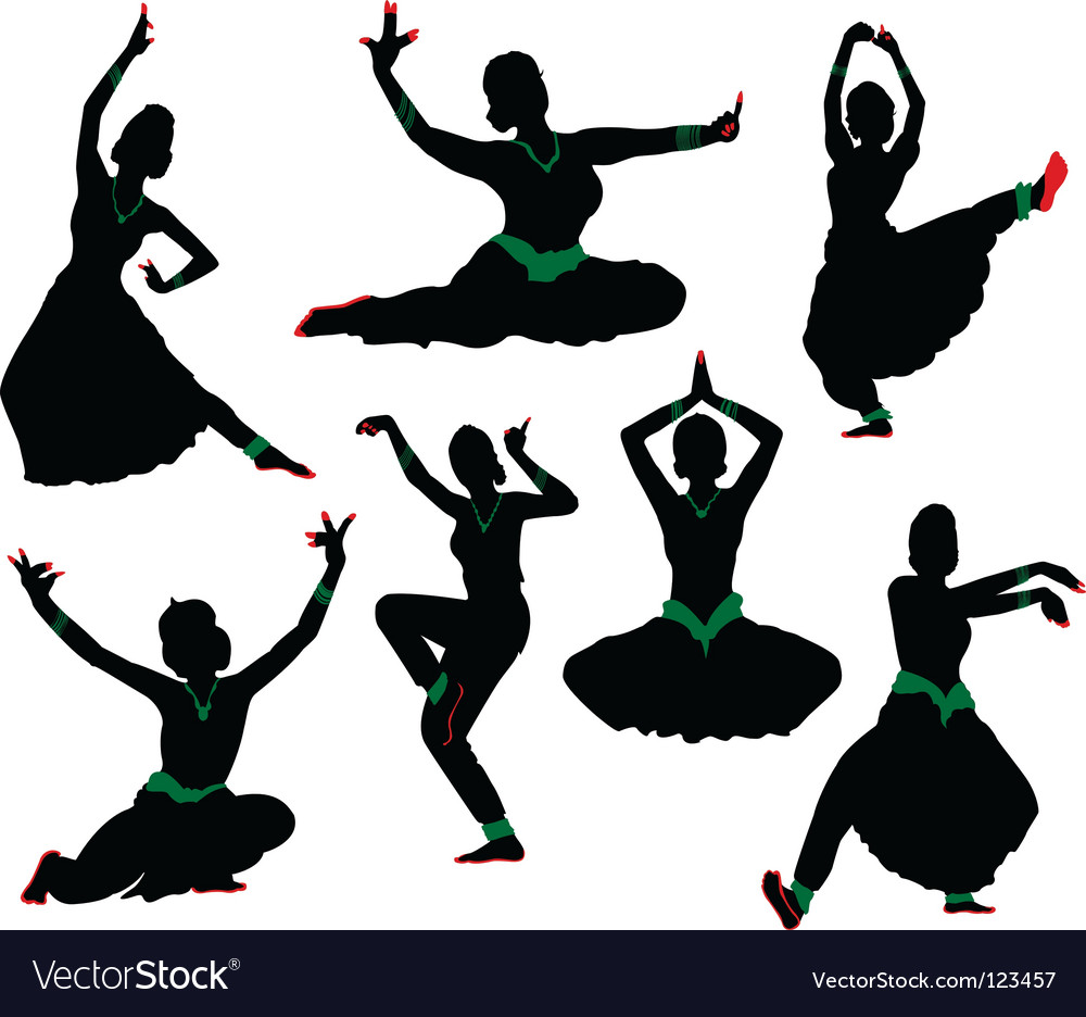 Indian dance vector | Price: 1 Credit (USD $1)