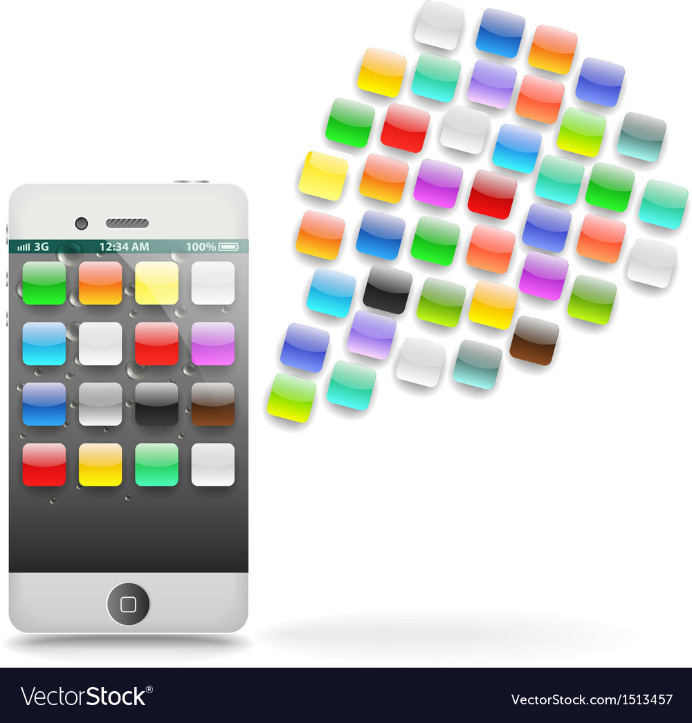 Modern touchphone gadget vector | Price: 1 Credit (USD $1)