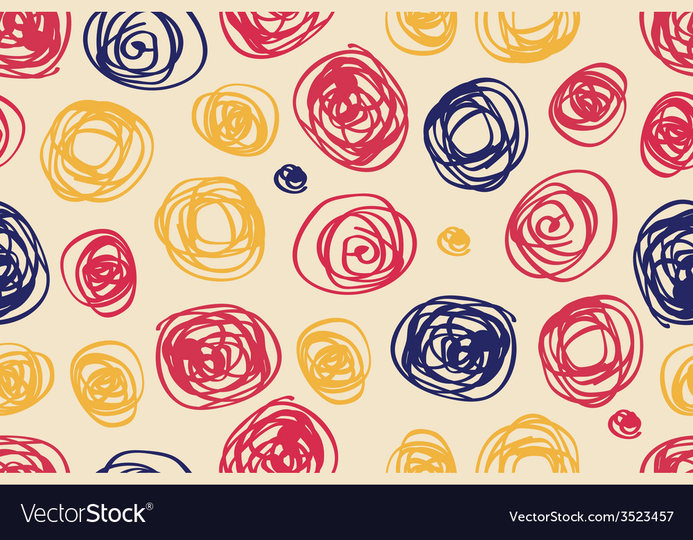 Seamless pattern of circles in retro style vector | Price: 1 Credit (USD $1)