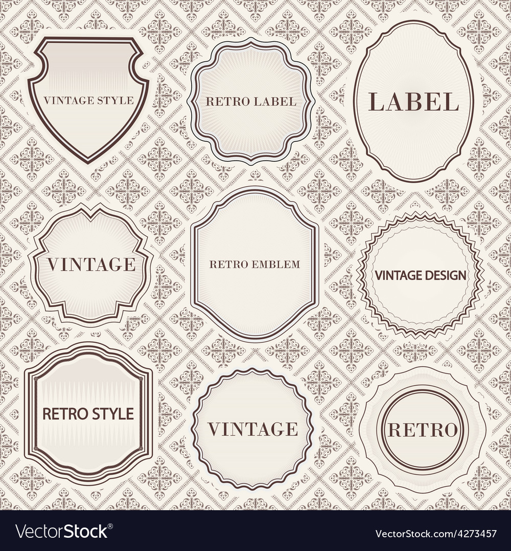 Set of vintage retro labels templates vector | Price: 1 Credit (USD $1)