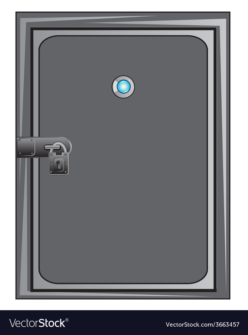 Steel door with outboard lock vector | Price: 1 Credit (USD $1)